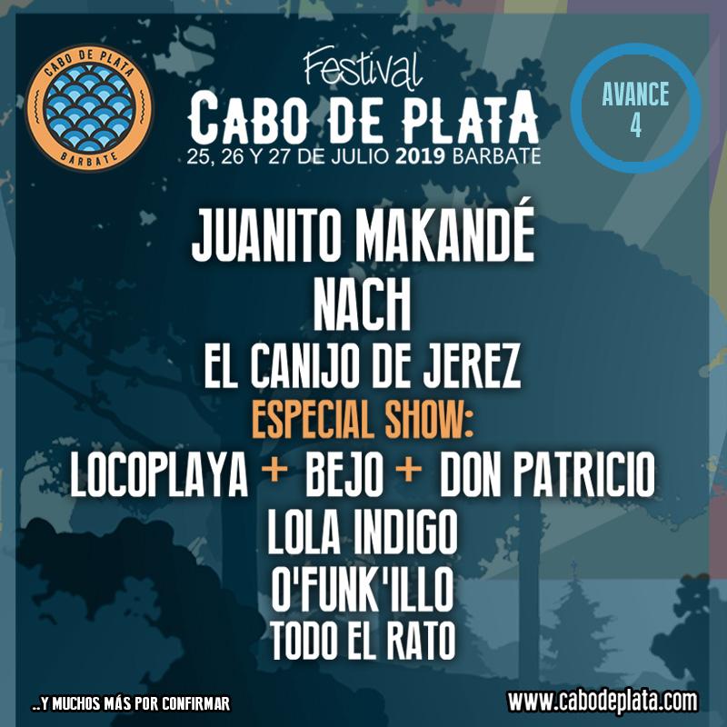 CABO DE PLATA vuelve a la cancha de juego con JUANI-TO MAKANDÉ, EL CANIJO DE JEREZ, LOLA INDIGO, O´FUNK'ILLO y NACH, entre sus nuevas confirmaciones