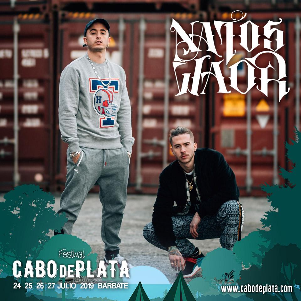 CABO DE PLATA cierra cartel con el rap de Natos y Waor y la fusión de Che Sudaka