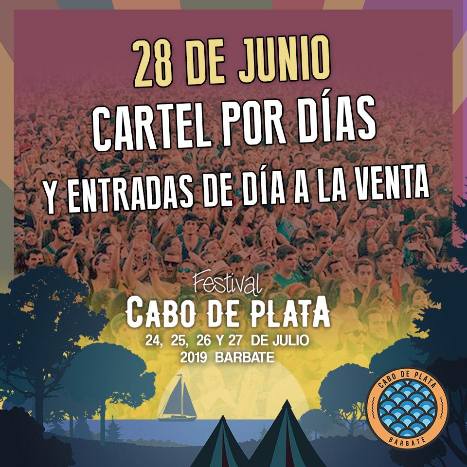 CABO DE PLATA anuncia la división por días de su cartel artístico 2019